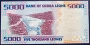 5000 Leones – reverse