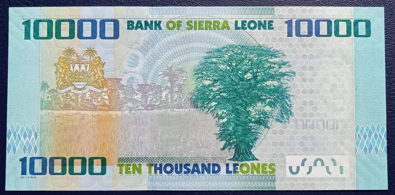 UNC P-33 Sierra Leone 10000 10,000 Leones 2015