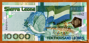 10 000 Leones – obverse