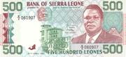 500 Leones – obverse