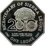 1 Leone (Independence) – obverse