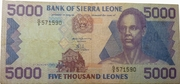 5,000 Leones – obverse