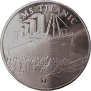 1 Dollar (RMS Titanic) – reverse