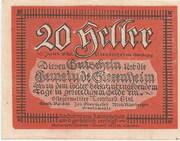 20 Heller (Siezenheim) – obverse