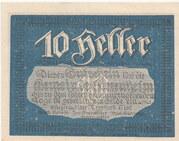 10 Heller (Siezenheim) – obverse