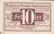 10 Heller (Sigmundherberg) -  obverse