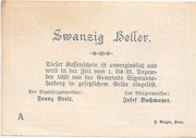 20 Heller (Sigmundherberg) -  reverse