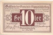 10 Heller (Sigmundsherberg) -  obverse
