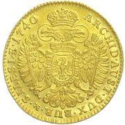 1 Ducat - Karl VI (Breslau) – reverse