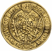 1 Ducat - Leopold I (Brieg) – reverse