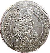 3 Kreuzer - Leopold I (Oppeln) – obverse