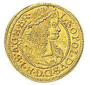 ½ Ducat - Leopold I (Breslau) – obverse
