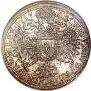 1 Thaler - Karl VI (Breslau) – reverse