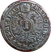 1 Kreuzer - Leopold I (Wroclaw) – reverse