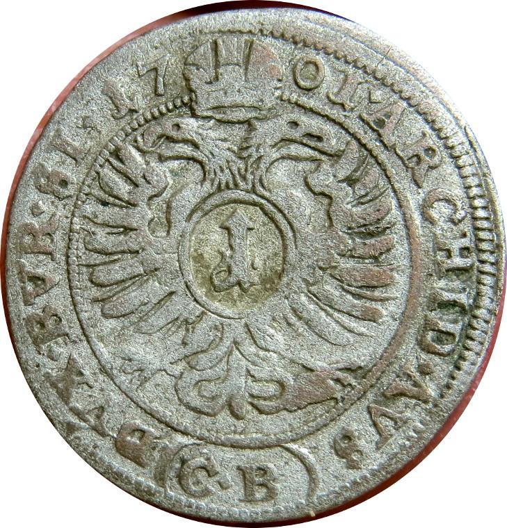 2dbad06e5 1 Kreuzer - Leopold I (Brieg) - Royal Mint of Silesia – Numista