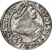 3 Kreuzer - Leopold I (Breslau) – obverse