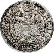 3 Kreuzer - Leopold I (Breslau) – reverse