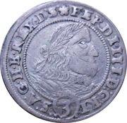 3 Kreuzer - Ferdinand III (Breslau) – obverse