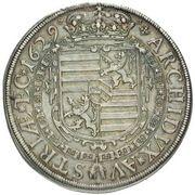 1 Thaler - Ferdinand III (Glatz) – reverse