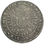 1 Thaler - Ferdinand III (Breslau) – reverse