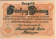 50 Pfennig (Groß-Wartenberg) – obverse