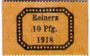 10 Pfennig (Reinerz; Handweberei) – obverse