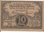 10 Pfennig (Hirschberg in Schlesien) – obverse