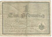 1 Pfennig (Glogau) – reverse
