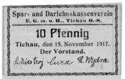 10 Pfennig (Tichau; Spar- und Darlehnskassenverein) – obverse