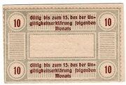 10 Pfennig (Tichau; Spar- und Darlehnskassenverein) – reverse
