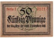 50 Pfennig (Waldenburg in Schlesien) – obverse