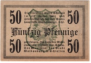 50 Pfennig (Waldenburg in Schlesien) – reverse
