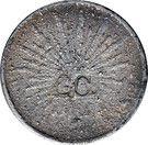 1 Peso (Buelna / Carrasco - Countermarked) – reverse