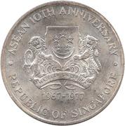 10 Dollars (ASEAN 10th Anniversary) -  obverse
