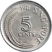 5 Cents (non-magnetic) -  reverse