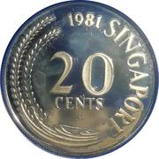 20 Cents (Silver Proof Issue) – obverse