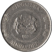 10 Cents (ribbon upwards) – obverse