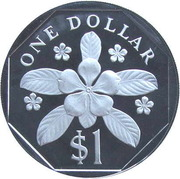 1 Dollar (Silver Proof Issue) – reverse