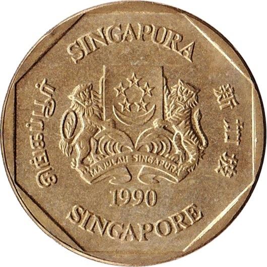 1 Dollar Ribbon Upwards Singapore Numista