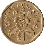 1 Dollar (ribbon upwards) – reverse