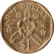 1 Dollar (ribbon downwards) -  reverse