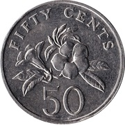 50 Cents (ribbon downwards) -  reverse