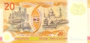 20 Dollars (40 Years of Currency Interchangeability) – reverse