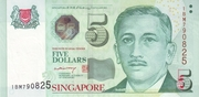 5 Dollars (Monetary Authority of Singapore; paper) – obverse