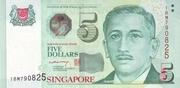 5 Dollars (Monetary Authority of Singapore; paper) -  obverse