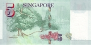 5 Dollars (Monetary Authority of Singapore; paper) – reverse