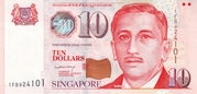 10 Dollars (Monetary Authority of Singapore; paper) – obverse
