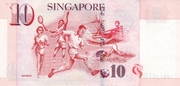 10 Dollars (Monetary Authority of Singapore; paper) – reverse