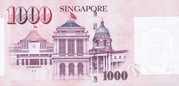 1000 Dollars (Monetary Authority of Singapore) – reverse