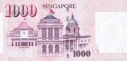 1000 Dollars (Monetary Authority of Singapore) -  reverse